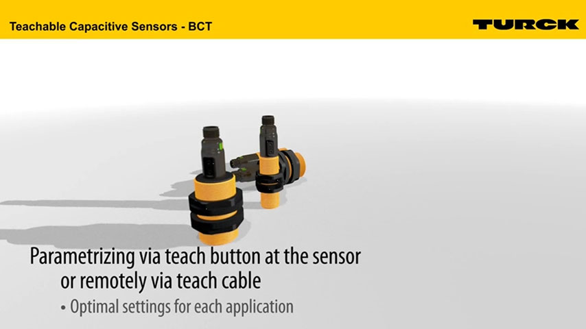 Capacitive Sensors with Single-Click Teach